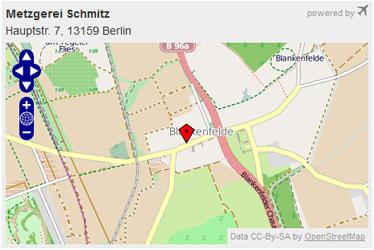 Beispiel einer mit dem Kartengenerator erstellen Karte